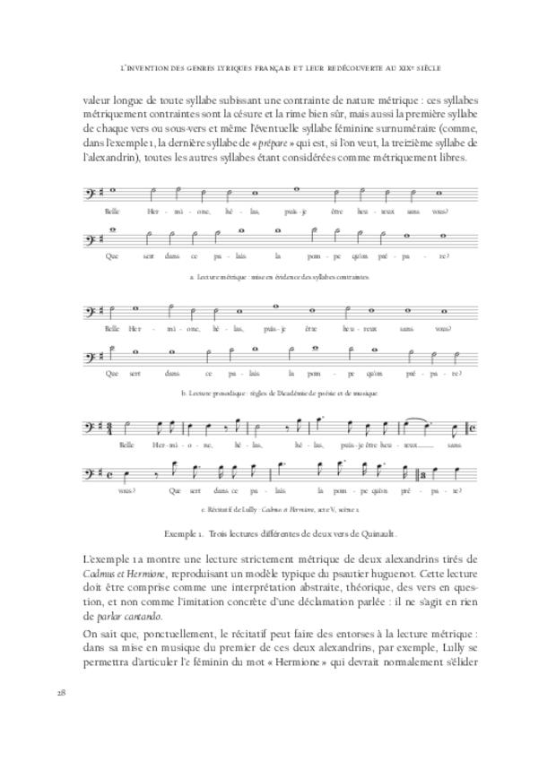 L'invention des genres lyriques français et leur redécouverte au xixe siècle, extrait 4