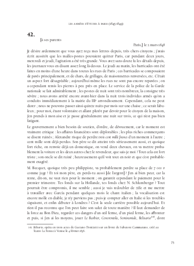 Itinéraire d'un chanteur à travers vingt années de correspondance, 1844-1864, extrait 3