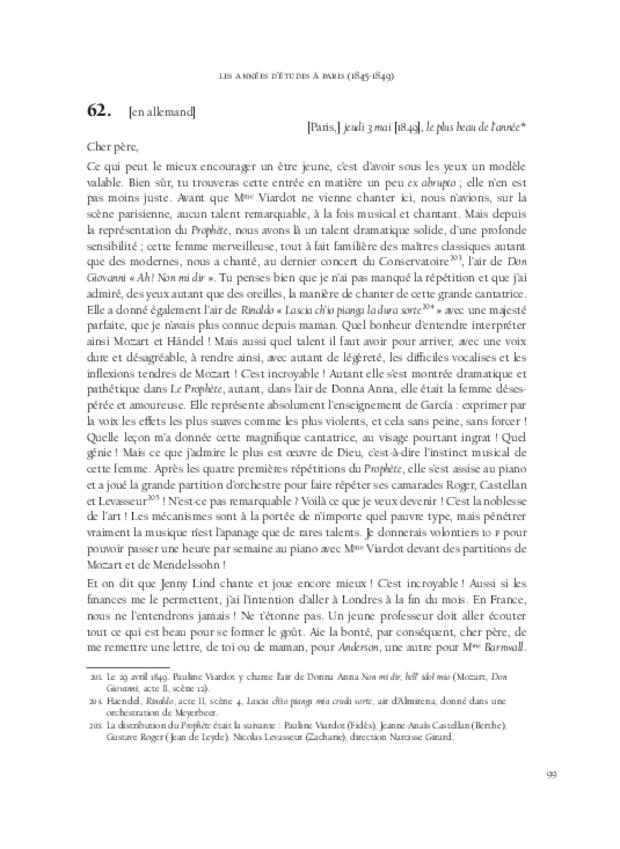 Itinéraire d'un chanteur à travers vingt années de correspondance, 1844-1864, extrait 5