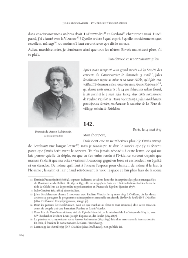 Itinéraire d'un chanteur à travers vingt années de correspondance, 1844-1864, extrait 7