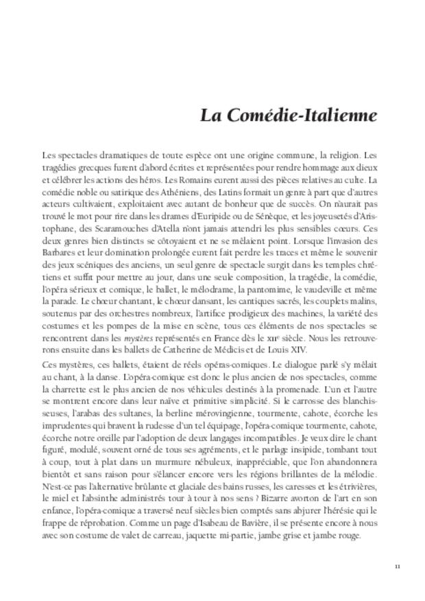 Histoire de l'opéra-comique, extrait 4