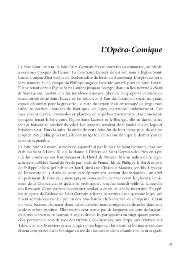 Histoire de l'opéra-comique, extrait 5