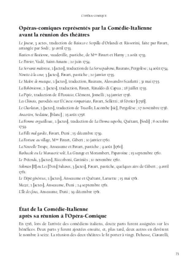 Histoire de l'opéra-comique, extrait 6