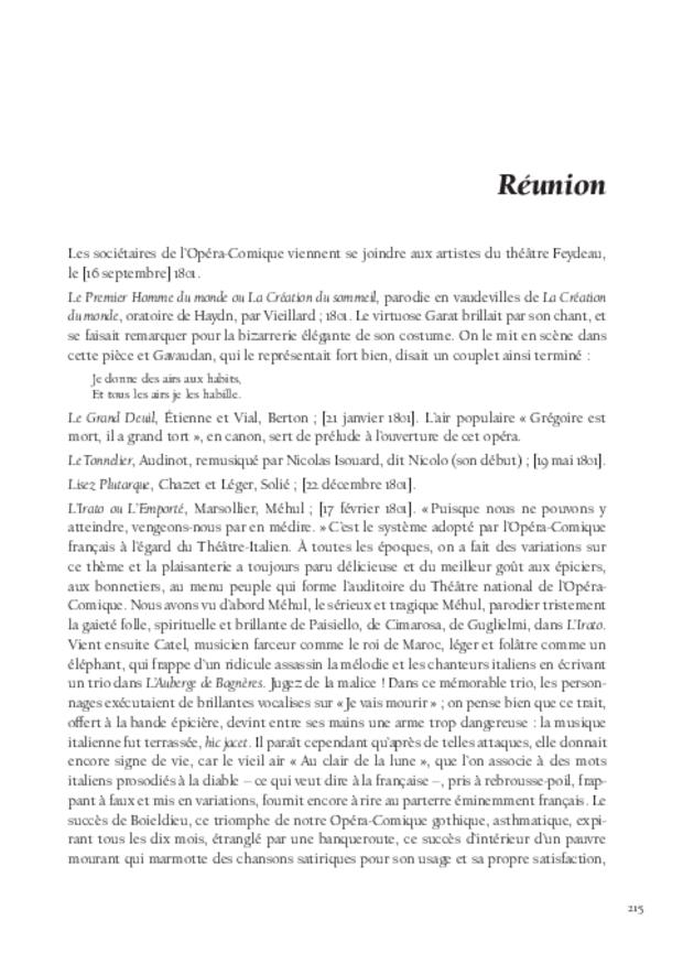 Histoire de l'opéra-comique, extrait 8