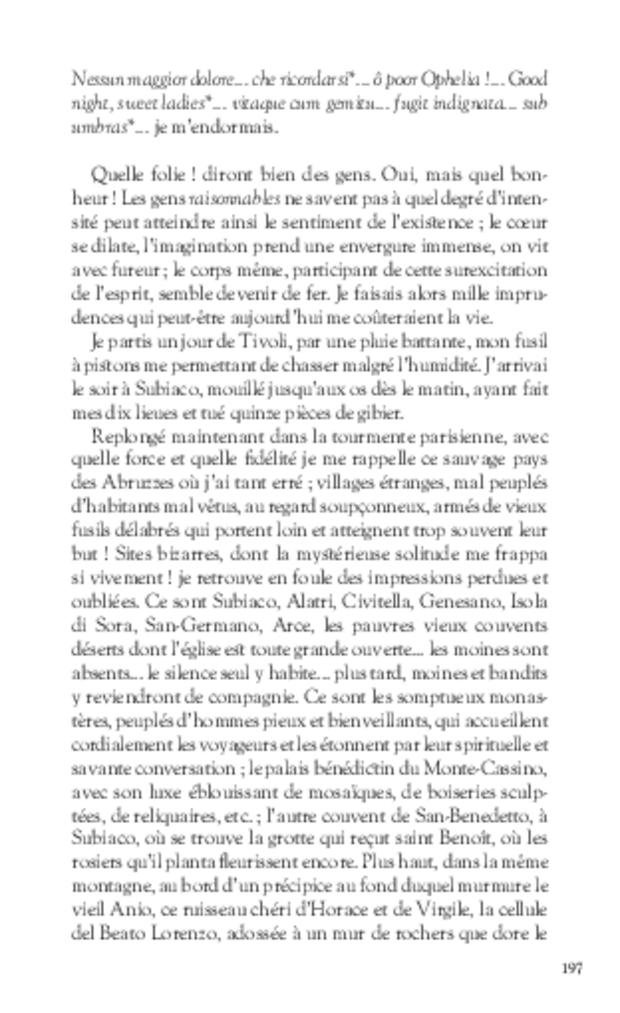 Mémoires, extrait 12