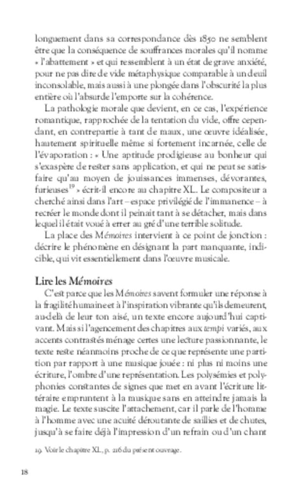 Mémoires, extrait 3