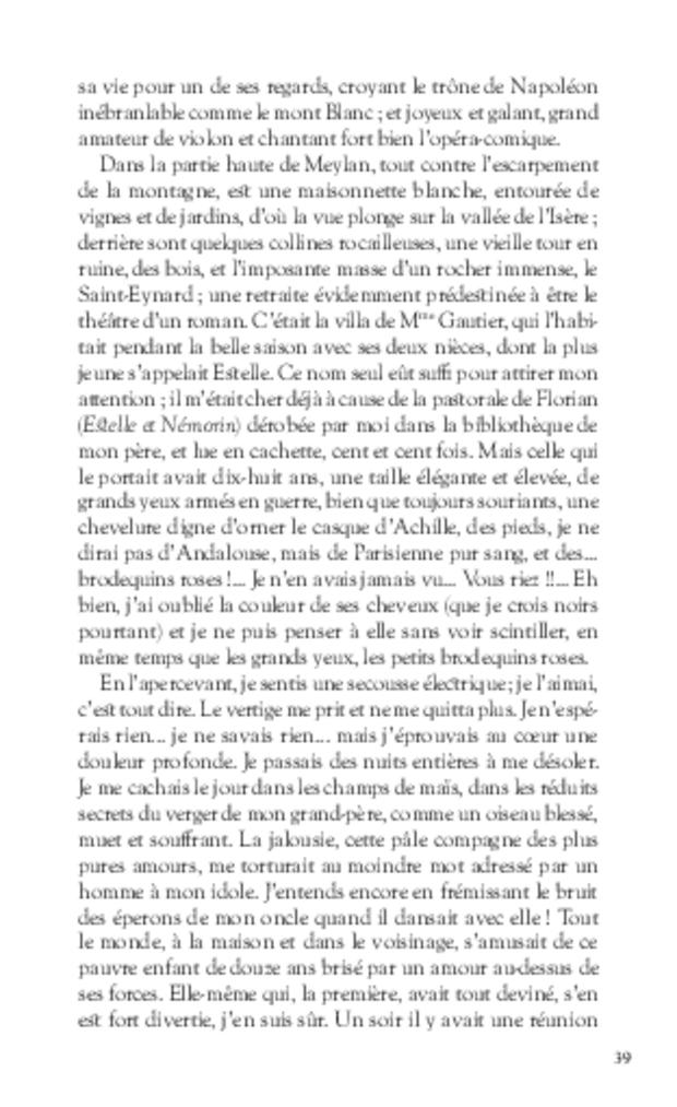 Mémoires, extrait 4