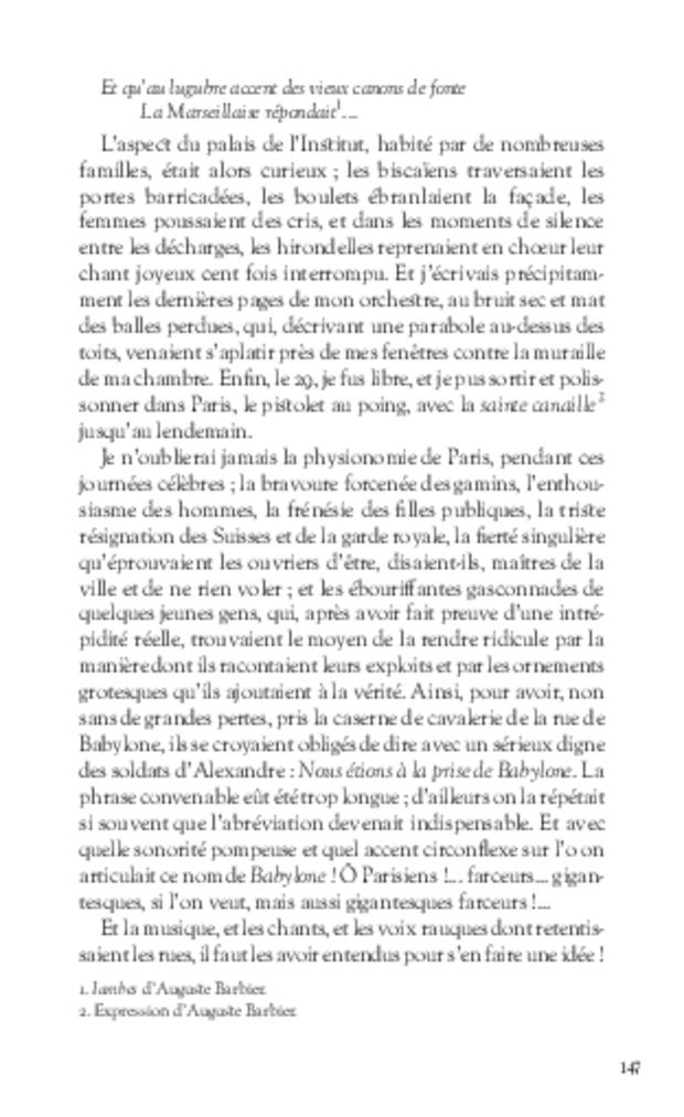 Mémoires, extrait 9