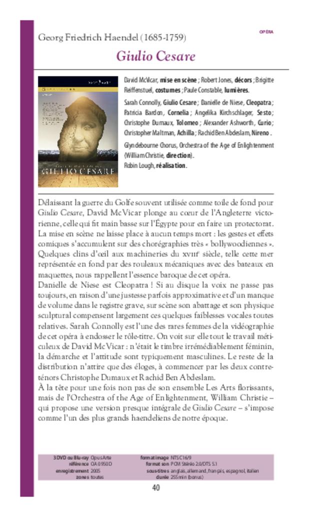 Guide des DVD de musique classique, extrait 3