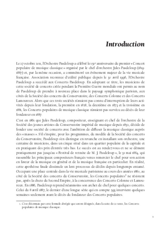 Jules Pasdeloup et les origines du concert populaire, extrait 3