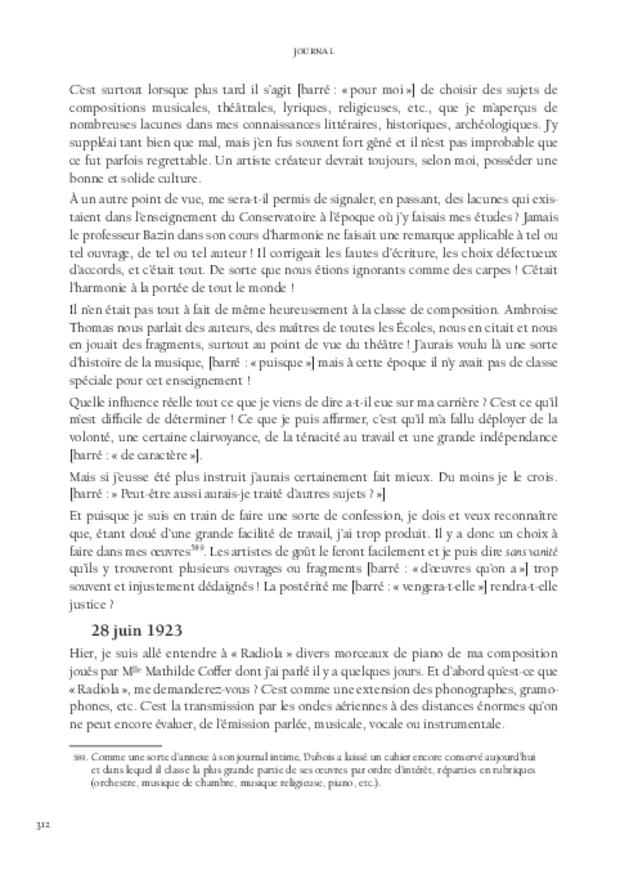 Journal, extrait 9
