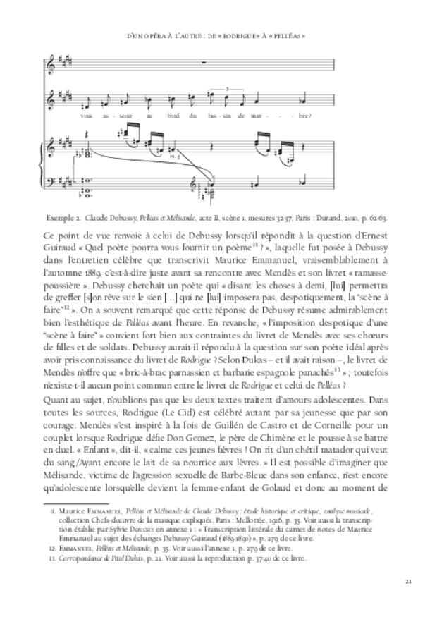 «Pelléas et Mélisande» cent ans après: études et documents, extrait 4