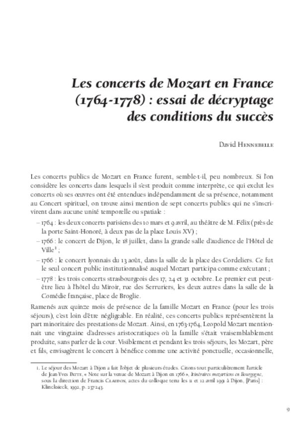 Mozart et la France, extrait 3