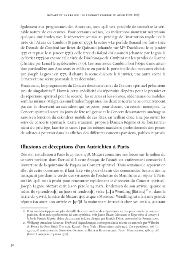 Mozart et la France, extrait 4