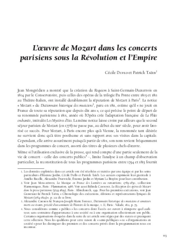 Mozart et la France, extrait 9
