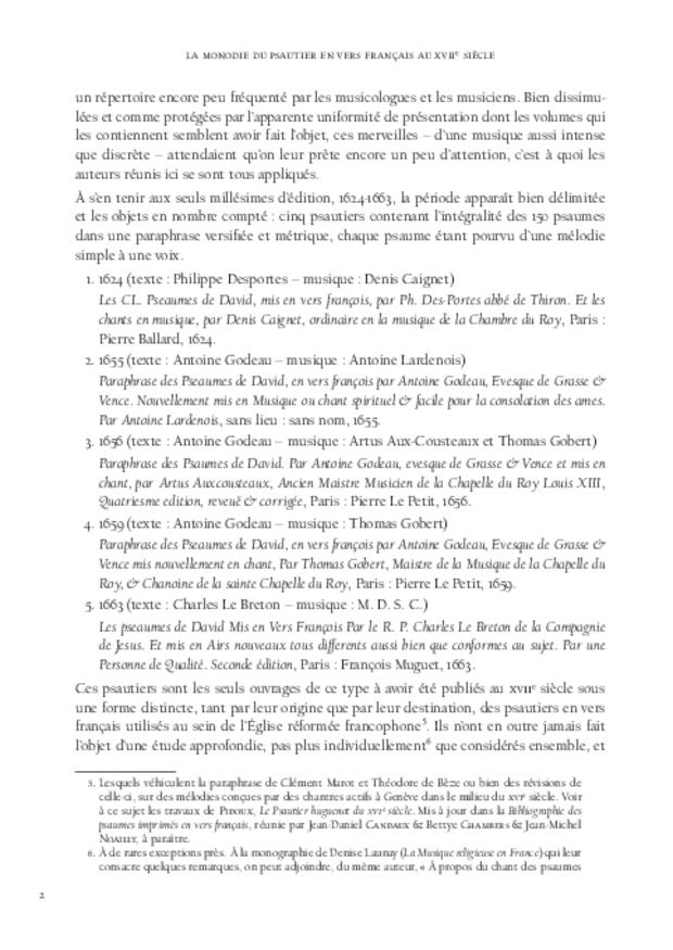 La Monodie du psautier en vers français au xviie siècle, extrait 3