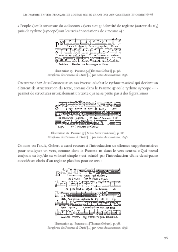 La Monodie du psautier en vers français au xviie siècle, extrait 5