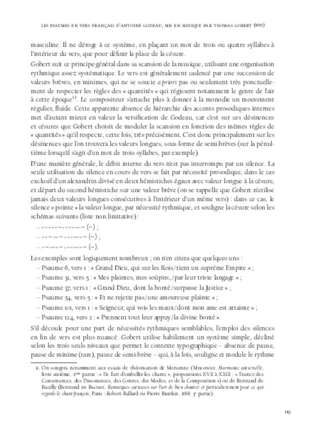 La Monodie du psautier en vers français au xviie siècle, extrait 6