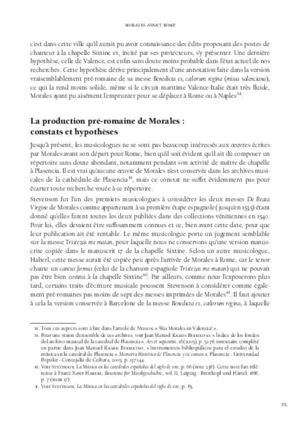 Cristóbal de Morales en Espagne, extrait 3