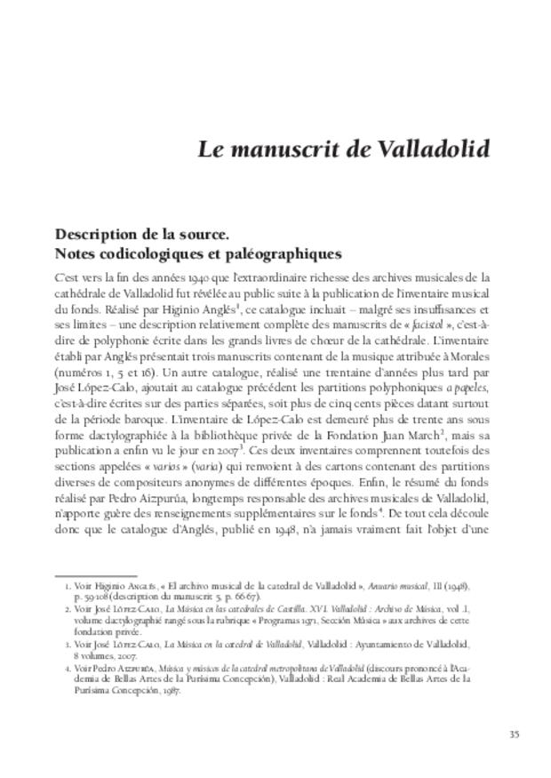 Cristóbal de Morales en Espagne, extrait 4