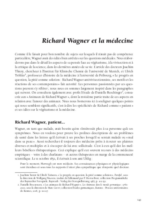 Un patient nommé Wagner, extrait 9