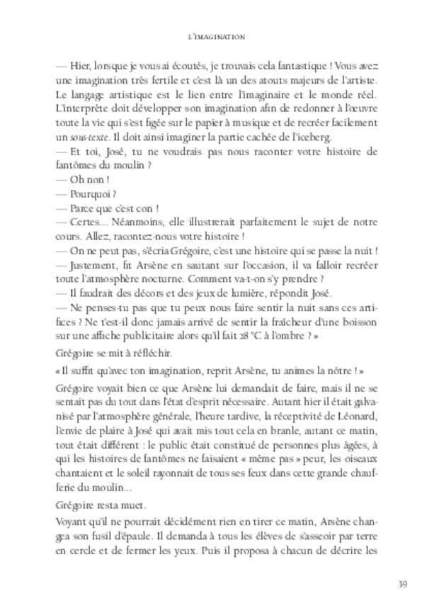 L'Amateur, extrait 4