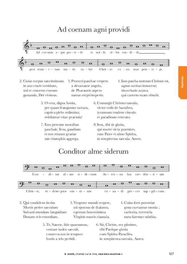 Chanter sur le livre, extrait 12