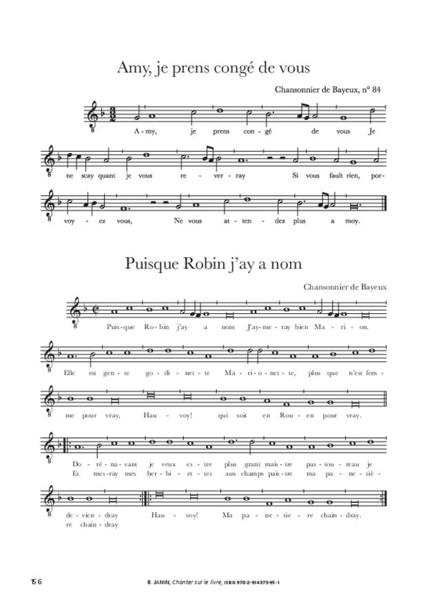 Chanter sur le livre, extrait 13