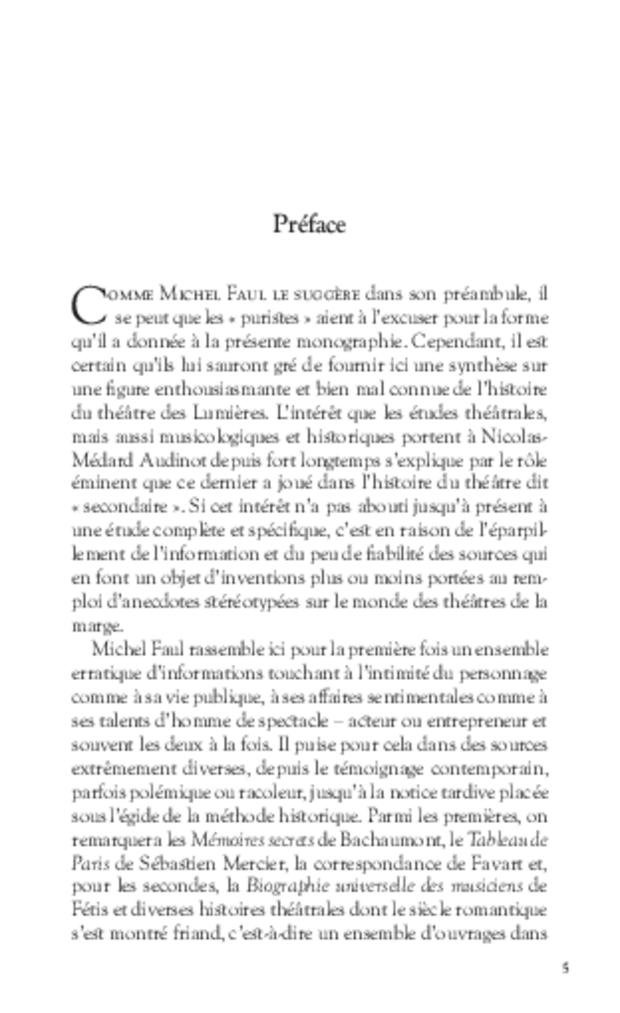 Les Tribulations de Nicolas-Médard Audinot, fondateur du théâtre de l'Ambigu-Comique, extrait 3