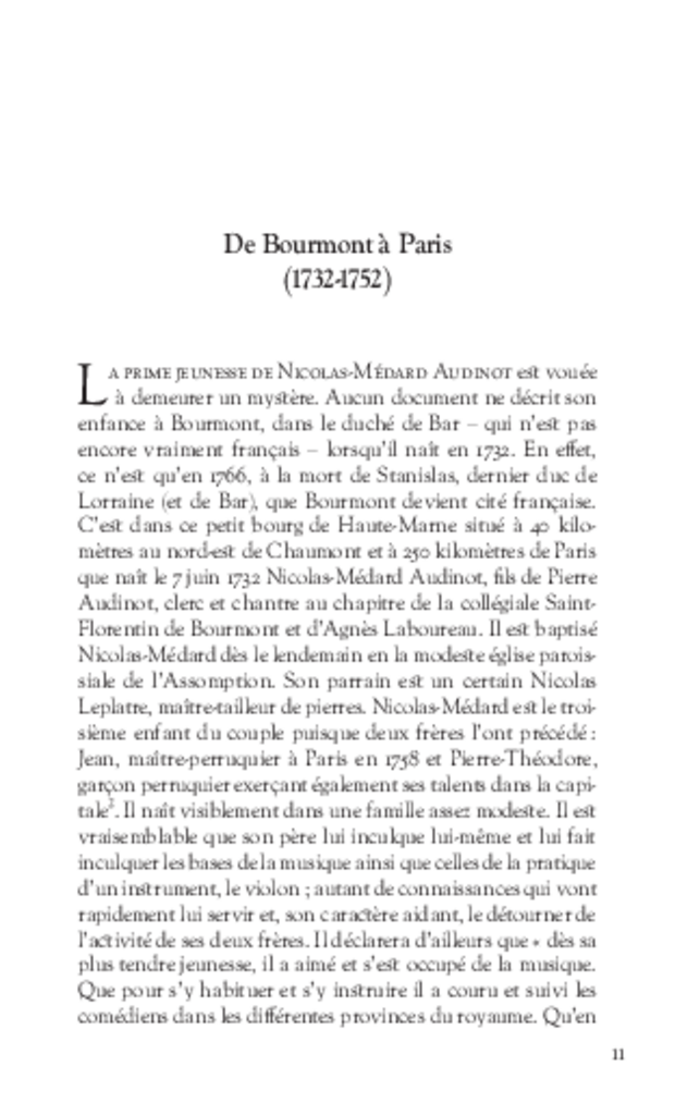 Les Tribulations de Nicolas-Médard Audinot, fondateur du théâtre de l'Ambigu-Comique, extrait 4
