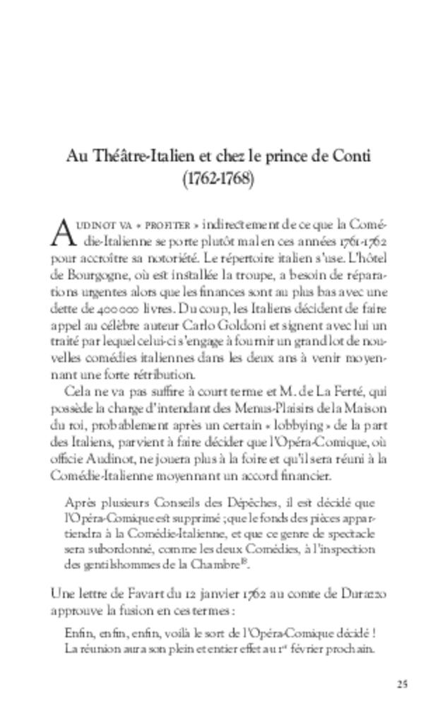 Les Tribulations de Nicolas-Médard Audinot, fondateur du théâtre de l'Ambigu-Comique, extrait 5