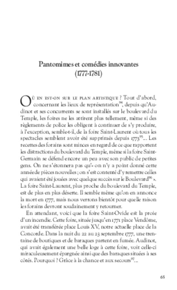 Les Tribulations de Nicolas-Médard Audinot, fondateur du théâtre de l'Ambigu-Comique, extrait 6