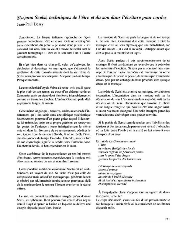 Giacinto Scelsi aujourd'hui, extrait 5