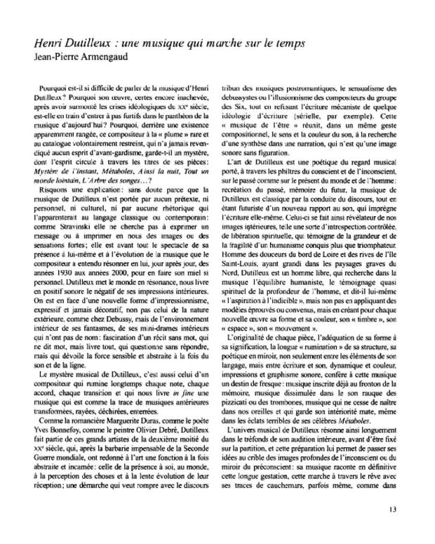 Henri Dutilleux, entre le cristal et la nuée, extrait 3