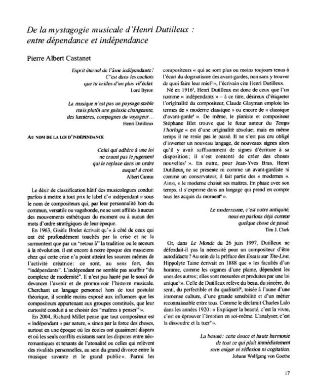 Henri Dutilleux, entre le cristal et la nuée, extrait 4