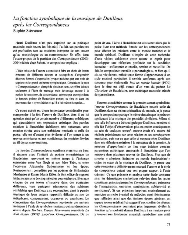 Henri Dutilleux, entre le cristal et la nuée, extrait 6