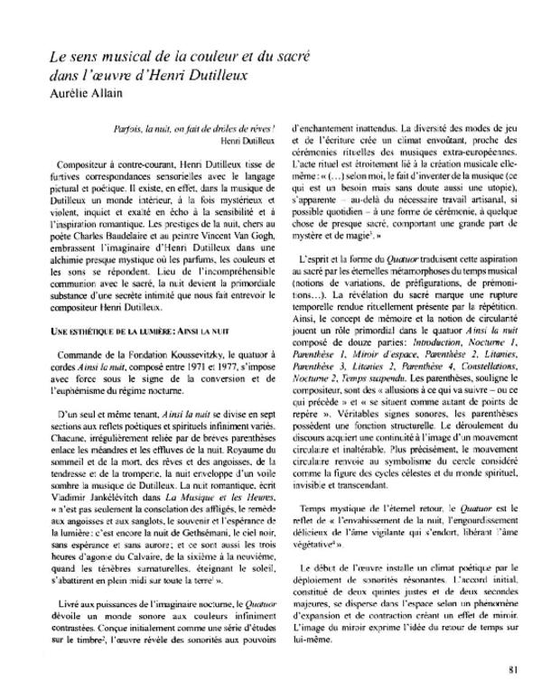 Henri Dutilleux, entre le cristal et la nuée, extrait 7