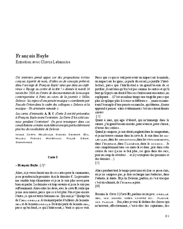 Gilles Deleuze, extrait 11