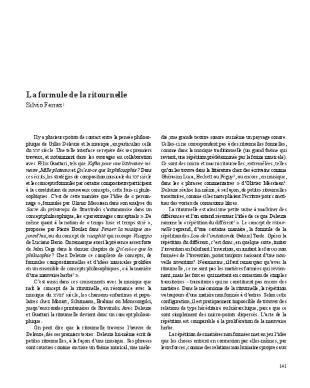 Gilles Deleuze, extrait 13