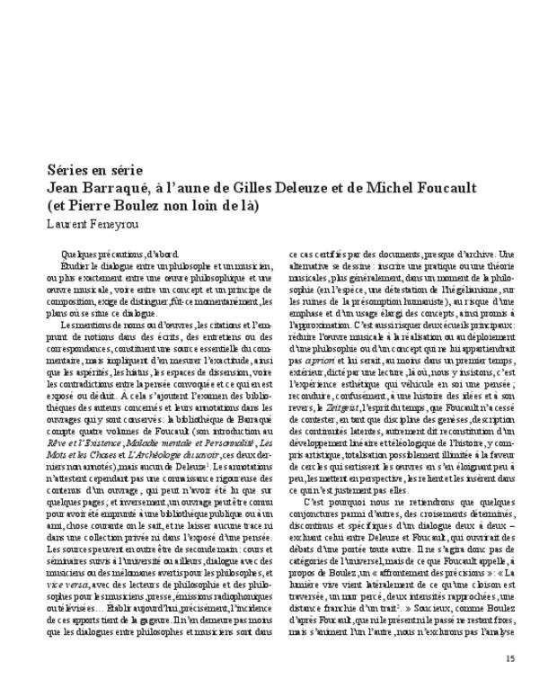 Gilles Deleuze, extrait 4