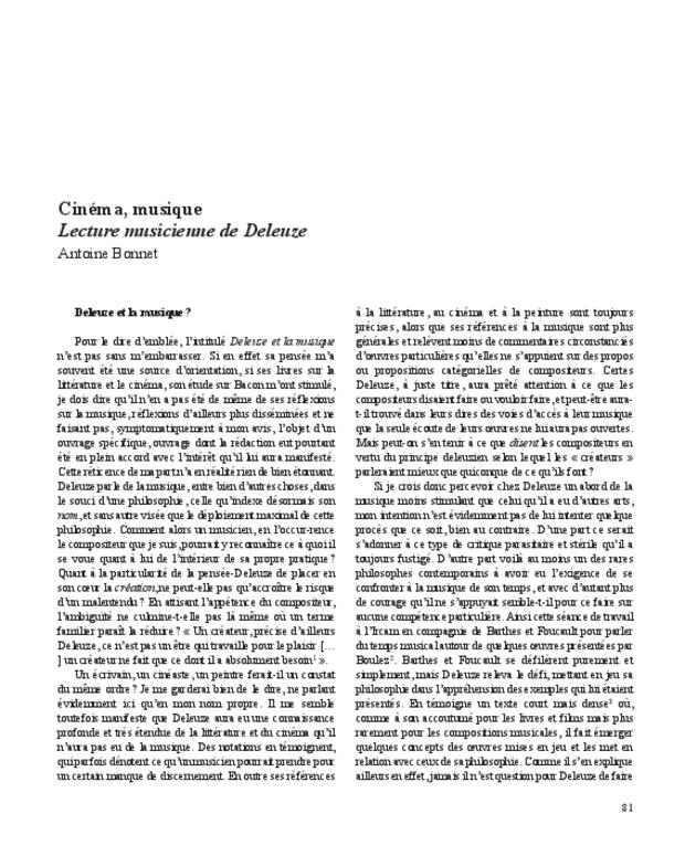 Gilles Deleuze, extrait 8