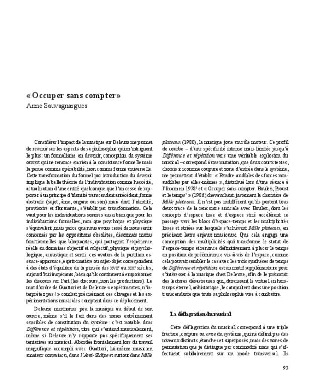 Gilles Deleuze, extrait 9