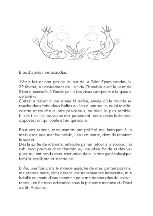 Frénésies & Tonésies, extrait 3