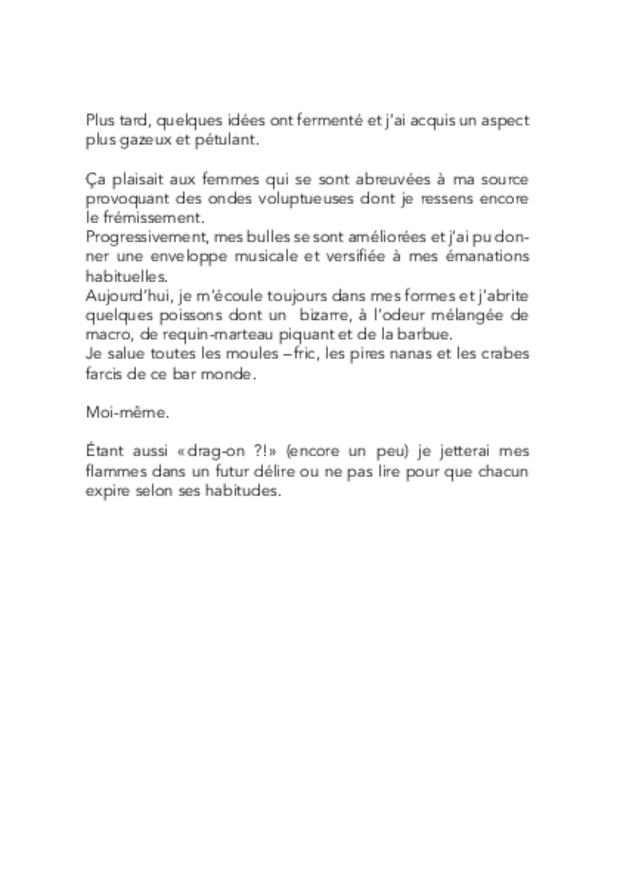 Frénésies & Tonésies, extrait 4