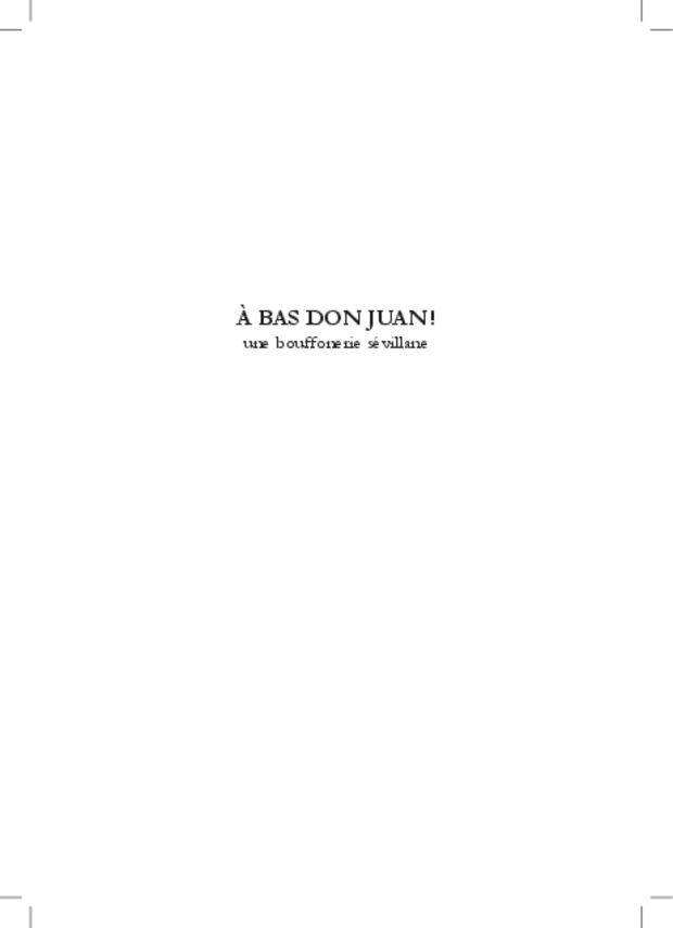 À bas Don Juan!, extrait 7