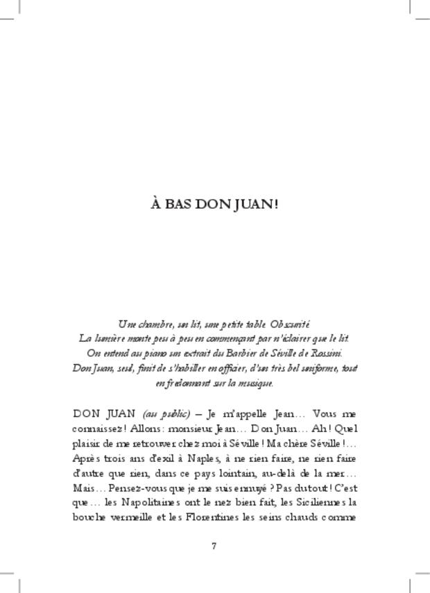 À bas Don Juan!, extrait 9