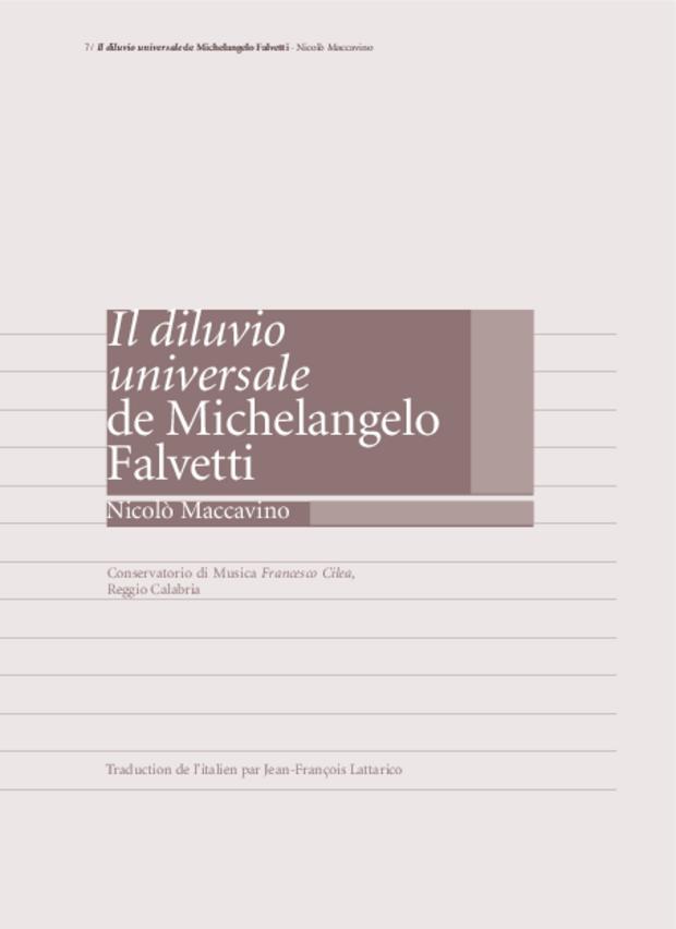 «Il Diluvio universale» de Michelangelo Falvetti, extrait 2