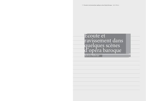 Transe, Ravissement, Extase, extrait 3