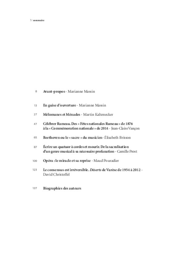 Célébrer-profaner, extrait 2