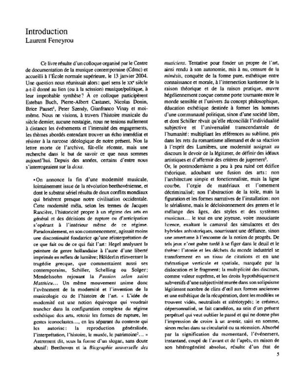 Résistances et utopies sonores, extrait 2